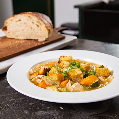 """Joel Mozersky's """"Sunday Winners"""" Dilled Chicken and Wine Soup"""