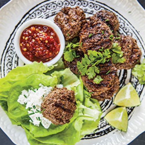 Vietnamese  Lettuce Wraps with Venison