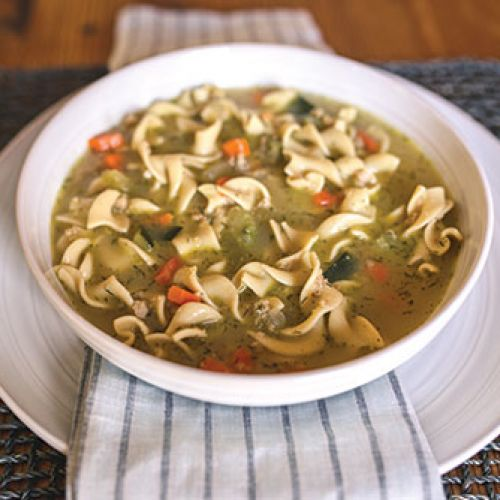 """Jote's Mom's """"Generations-Pleasing"""" Fakie Chicken Noodle Soup"""
