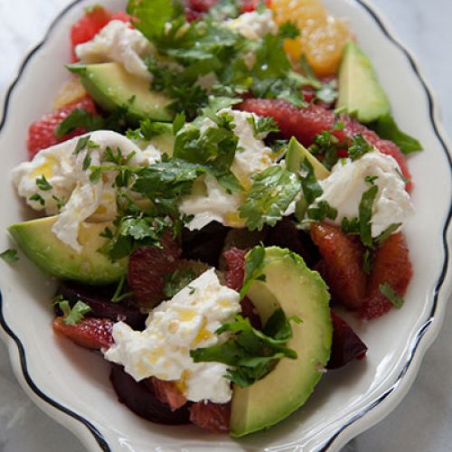 Roasted Beet, Citrus, Avocado and Burrata Salad