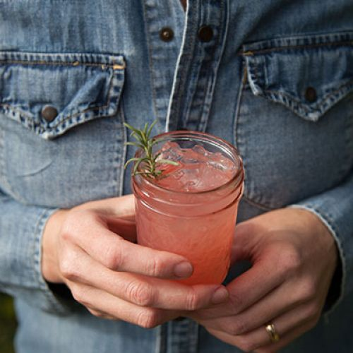 Ruby Red Grapefruit Cocktail with Rosemary