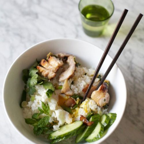 "Momofuku  ""Chicken and Egg"" Rice Bowl"