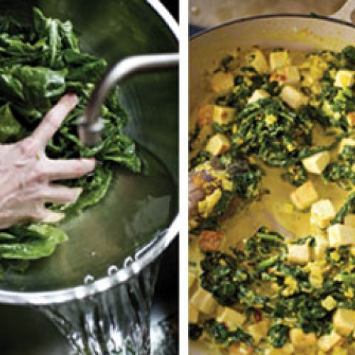 Saag Paneer with Fresh Spinach