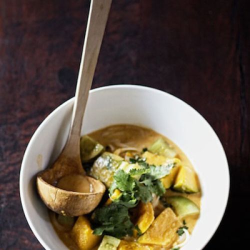 Thai Red Curry with Pumpkin and Green Tomato