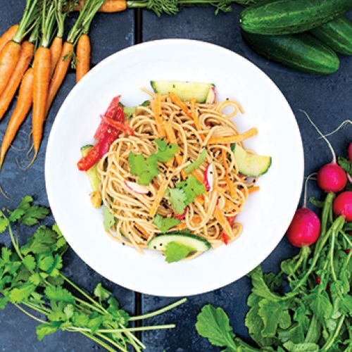 Peanut Noodles with Crunchy Vegetables