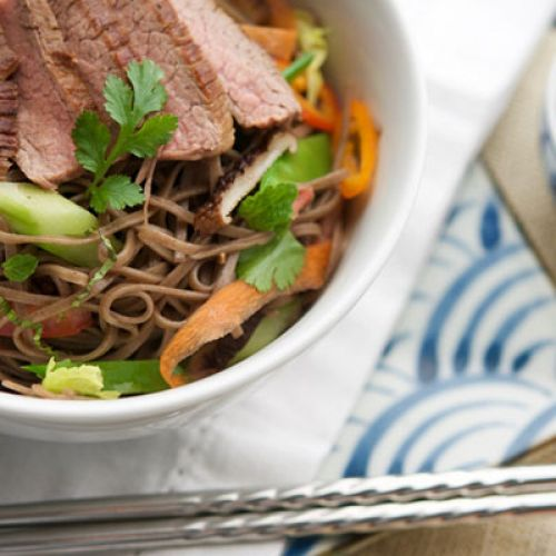 Soba Noodle Salad with Flank Steak