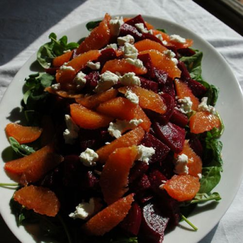 Beet Salad with Horseradish Vinaigrette