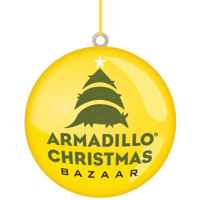 Armadillo Christmas Bazaar Logo Ornament 1