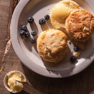 Brunch Biscuits with Paula's Texas Lemon Butter