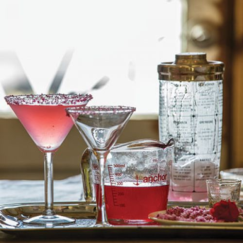 Bill Varney's Lemon-Rose Martini