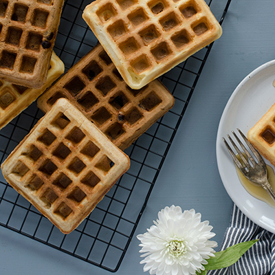 Overnight Chocolatey-Chip Yeasted Waffles