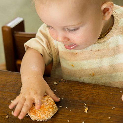 Sweet Potato Squash Cakes for a 6-Month-Old or Older