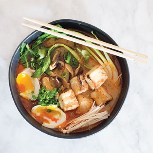 Curry Ramen Bowls with Tofu and Veggies