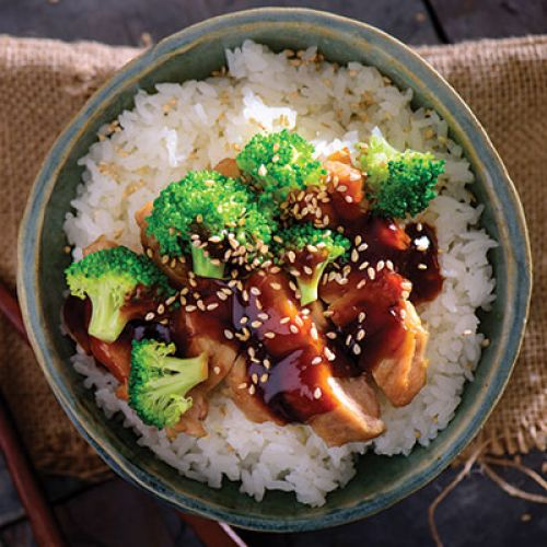 Almost Instant (Pot) Chicken Teriyaki with Broccoli and Rice